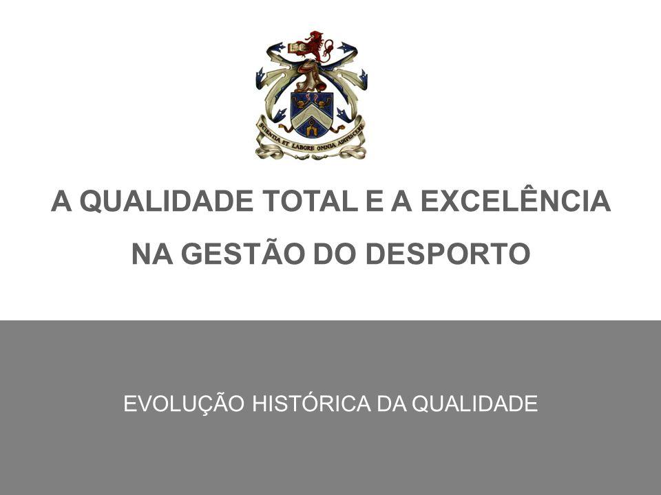 A QUALIDADE TOTAL E A EXCELÊNCIA NA GESTÃO DO DESPORTO EVOLUÇÃO HISTÓRICA DA QUALIDADE
