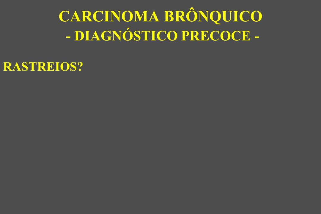 RASTREIOS? CARCINOMA BRÔNQUICO - DIAGNÓSTICO PRECOCE -