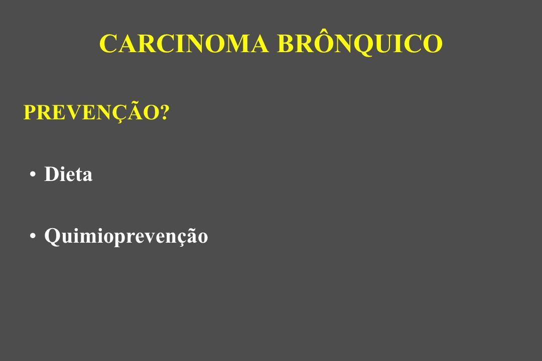 PREVENÇÃO? Dieta Quimioprevenção CARCINOMA BRÔNQUICO