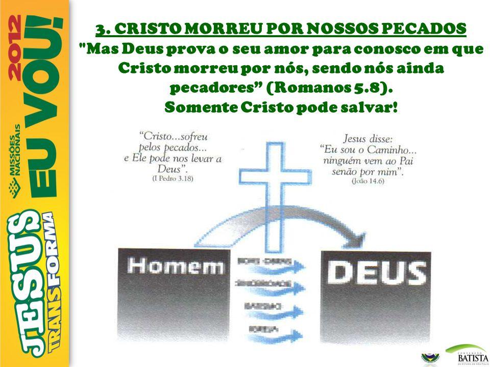 3. CRISTO MORREU POR NOSSOS PECADOS