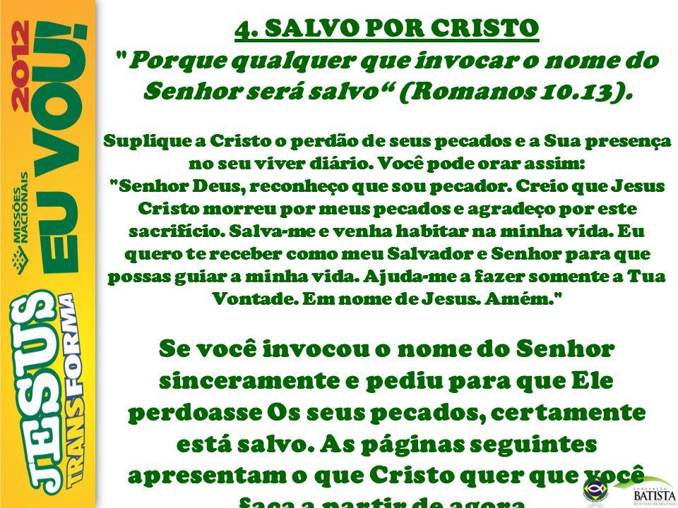 4. SALVO POR CRISTO