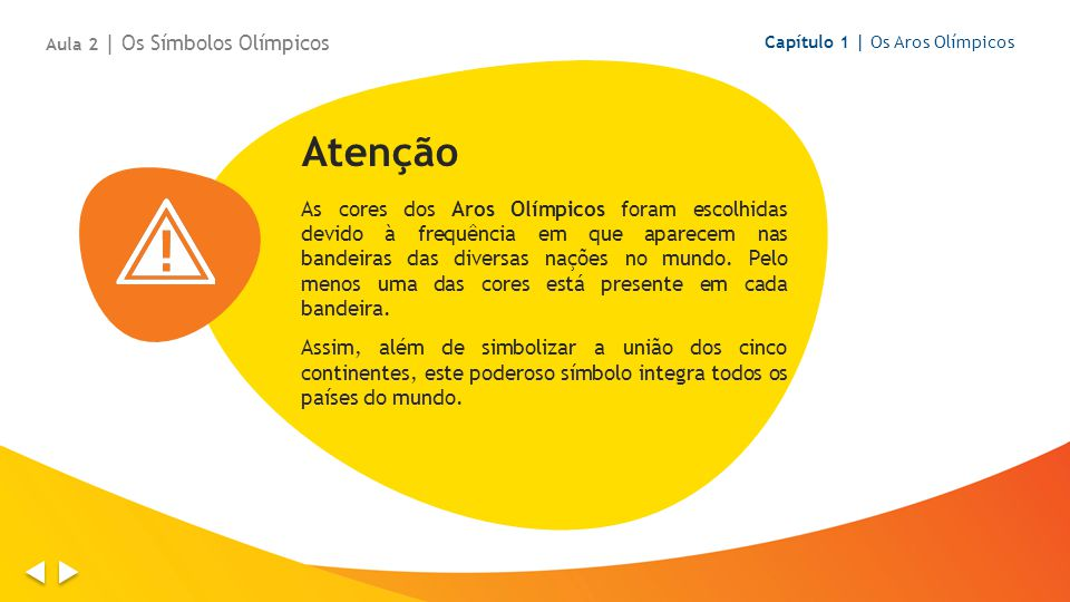 Os Aros Olímpicos estão presentes também em outro símbolo Olímpico: a Bandeira Olímpica.