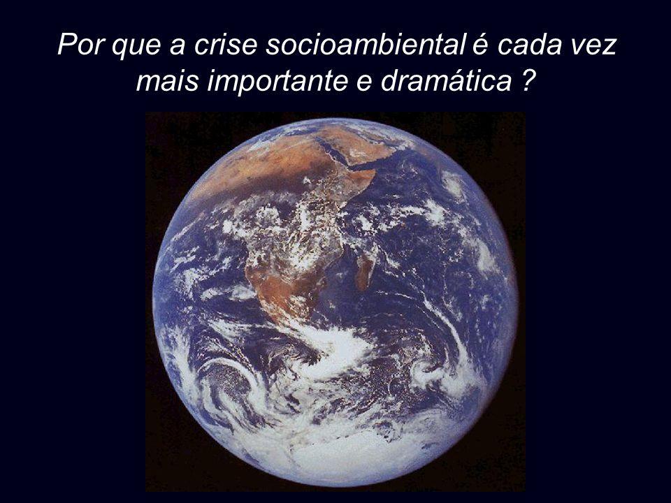 Por que a crise socioambiental é cada vez mais importante e dramática ?
