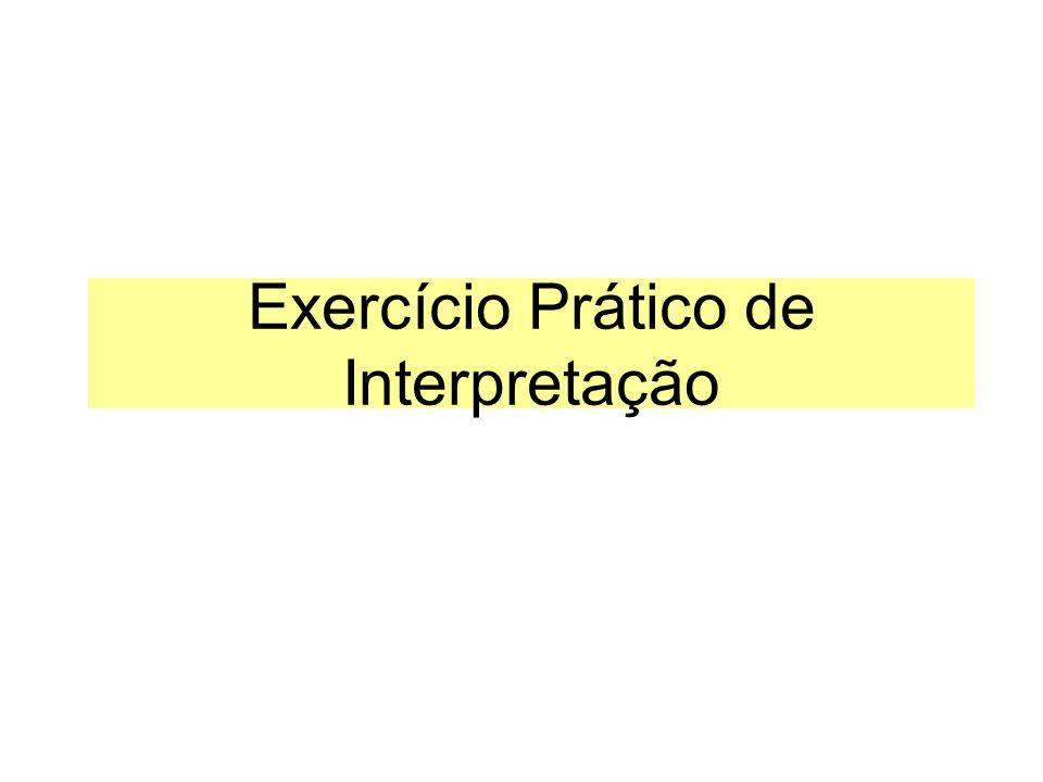 Exercício Prático de Interpretação