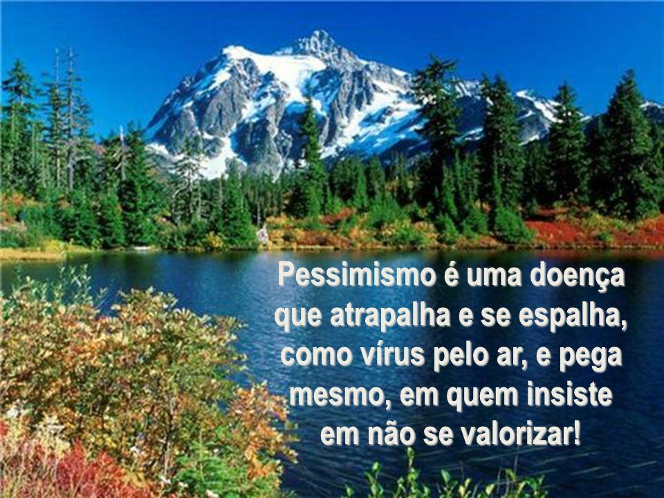 Não se deixe levar pela corrente, o pessimismo é uma praga que se instala...