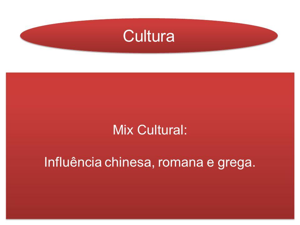 Mix Cultural: Influência chinesa, romana e grega. Mix Cultural: Influência chinesa, romana e grega.