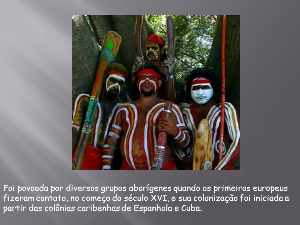 Foi povoada por diversos grupos aborígenes quando os primeiros europeus fizeram contato, no começo do século XVI, e sua colonização foi iniciada a par