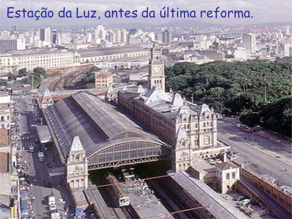 Estação da Luz, antes da última reforma.