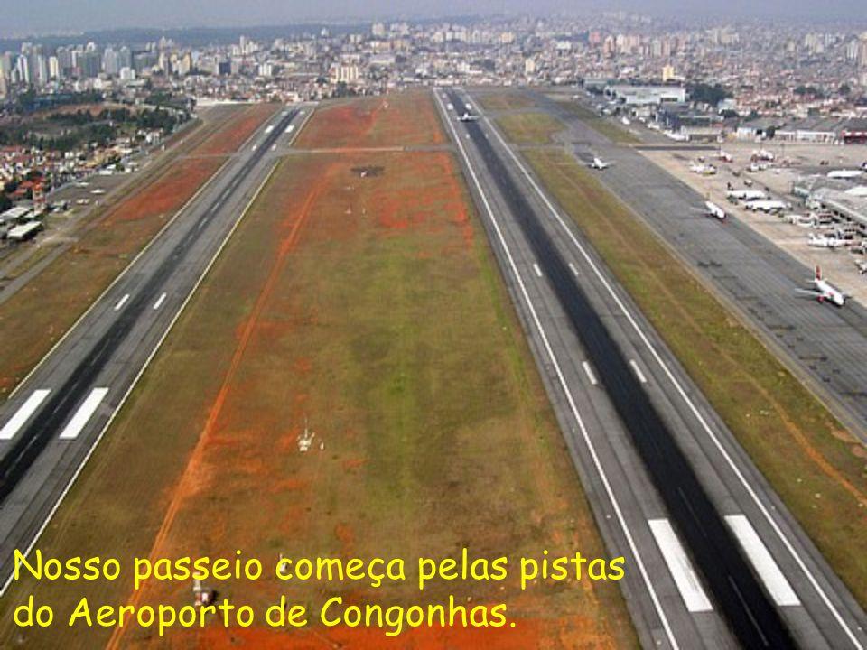 Nosso passeio começa pelas pistas do Aeroporto de Congonhas.
