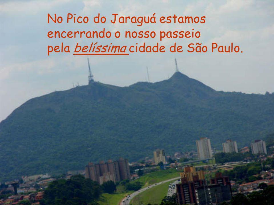 No Pico do Jaraguá estamos encerrando o nosso passeio pela belíssima cidade de São Paulo.