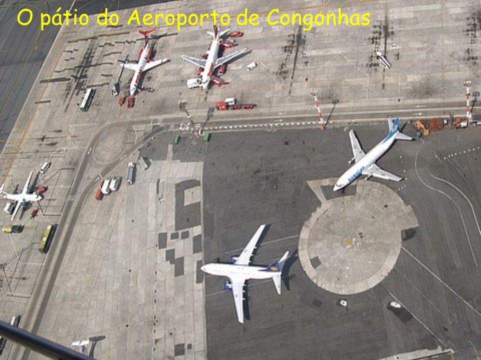 O pátio do Aeroporto de Congonhas