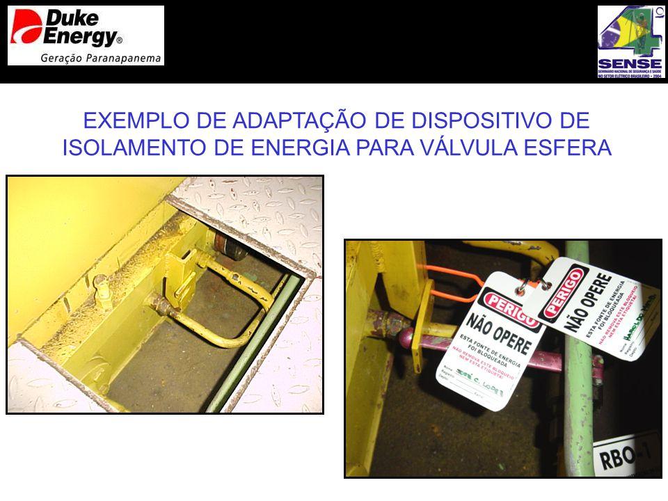 EXEMPLO DE ADAPTAÇÃO DE DISPOSITIVO DE ISOLAMENTO DE ENERGIA PARA VÁLVULA ESFERA