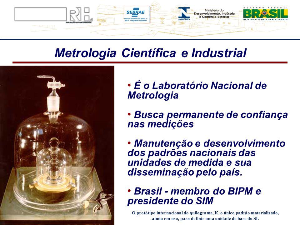 É o Laboratório Nacional de Metrologia Busca permanente de confiança nas medições Manutenção e desenvolvimento dos padrões nacionais das unidades de m