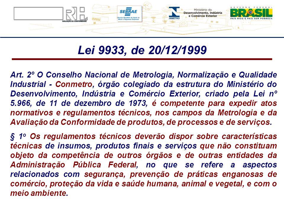 Art. 2º O Conselho Nacional de Metrologia, Normalização e Qualidade Industrial - Conmetro, órgão colegiado da estrutura do Ministério do Desenvolvimen