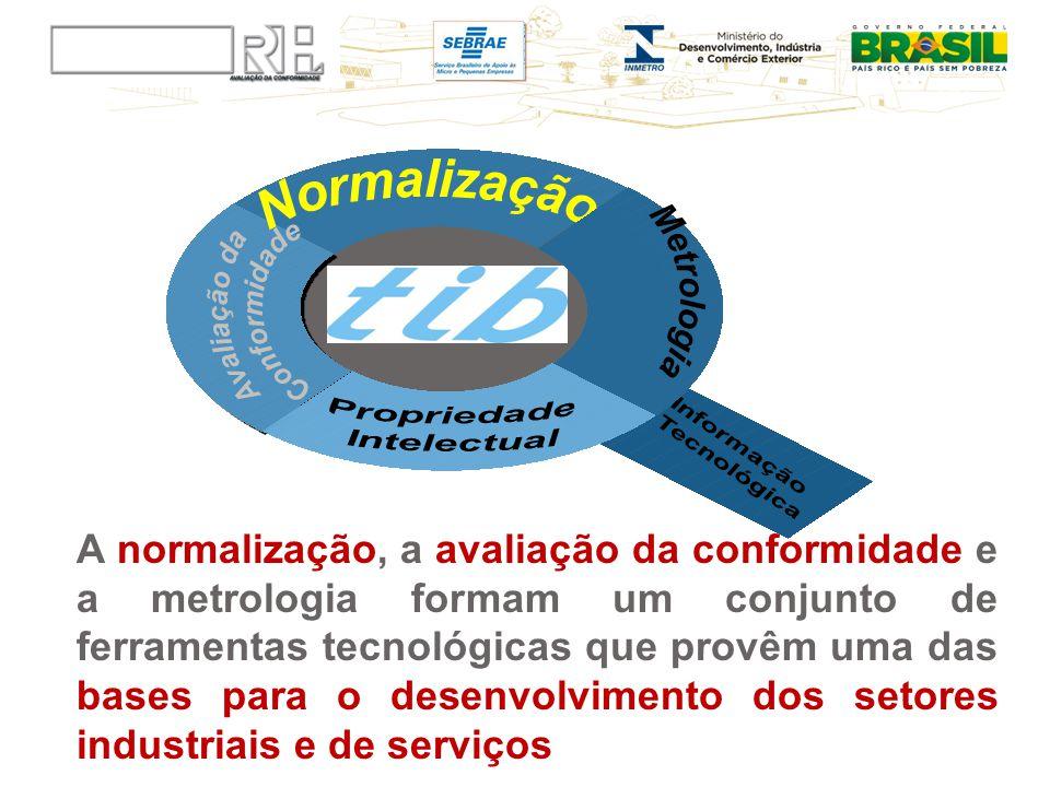 A normalização, a avaliação da conformidade e a metrologia formam um conjunto de ferramentas tecnológicas que provêm uma das bases para o desenvolvime