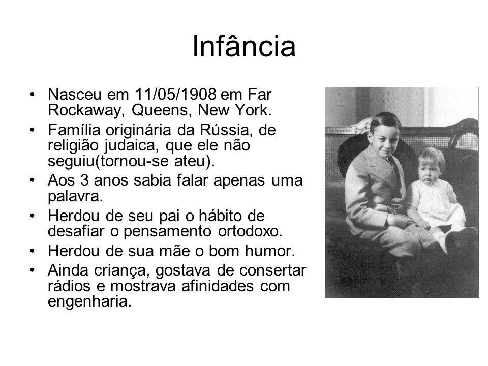 Infância Nasceu em 11/05/1908 em Far Rockaway, Queens, New York. Família originária da Rússia, de religião judaica, que ele não seguiu(tornou-se ateu)
