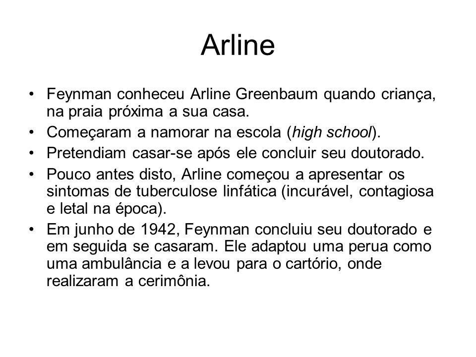 Arline Feynman conheceu Arline Greenbaum quando criança, na praia próxima a sua casa. Começaram a namorar na escola (high school). Pretendiam casar-se