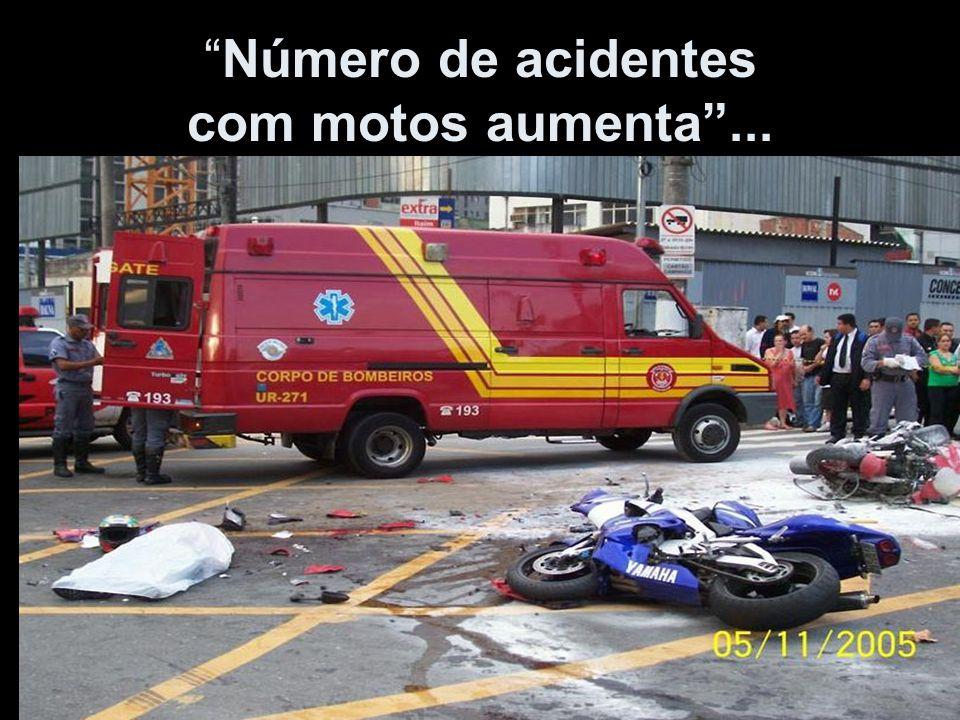 Número de acidentes com motos aumenta ...