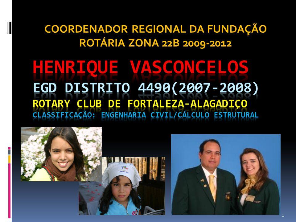 1 COORDENADOR REGIONAL DA FUNDAÇÃO ROTÁRIA ZONA 22B 2009-2012