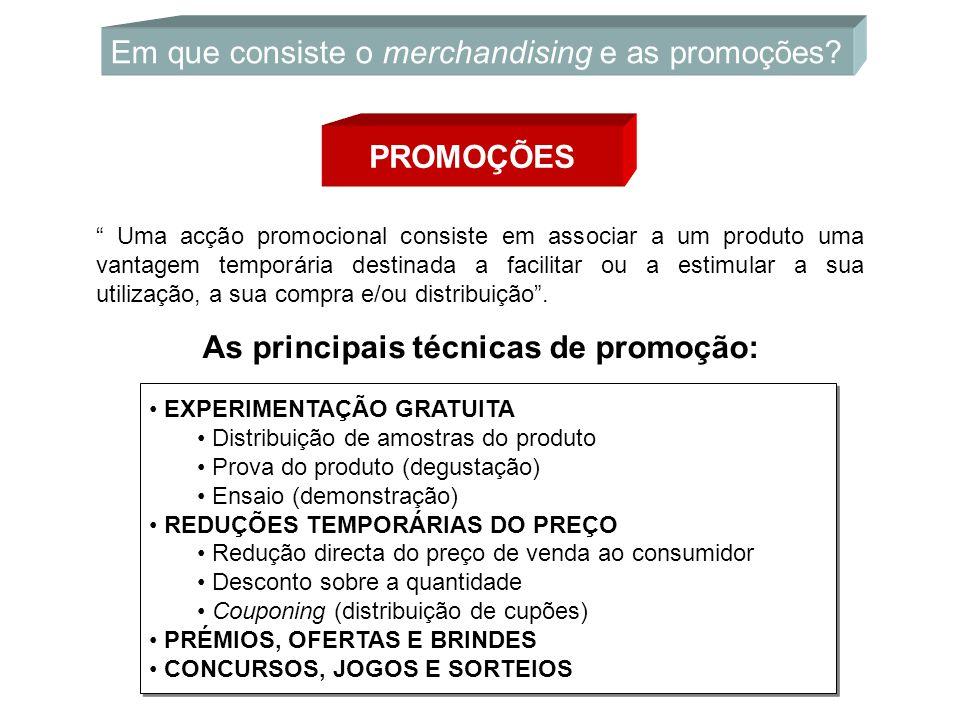 """PROMOÇÕES Em que consiste o merchandising e as promoções? """" Uma acção promocional consiste em associar a um produto uma vantagem temporária destinada"""