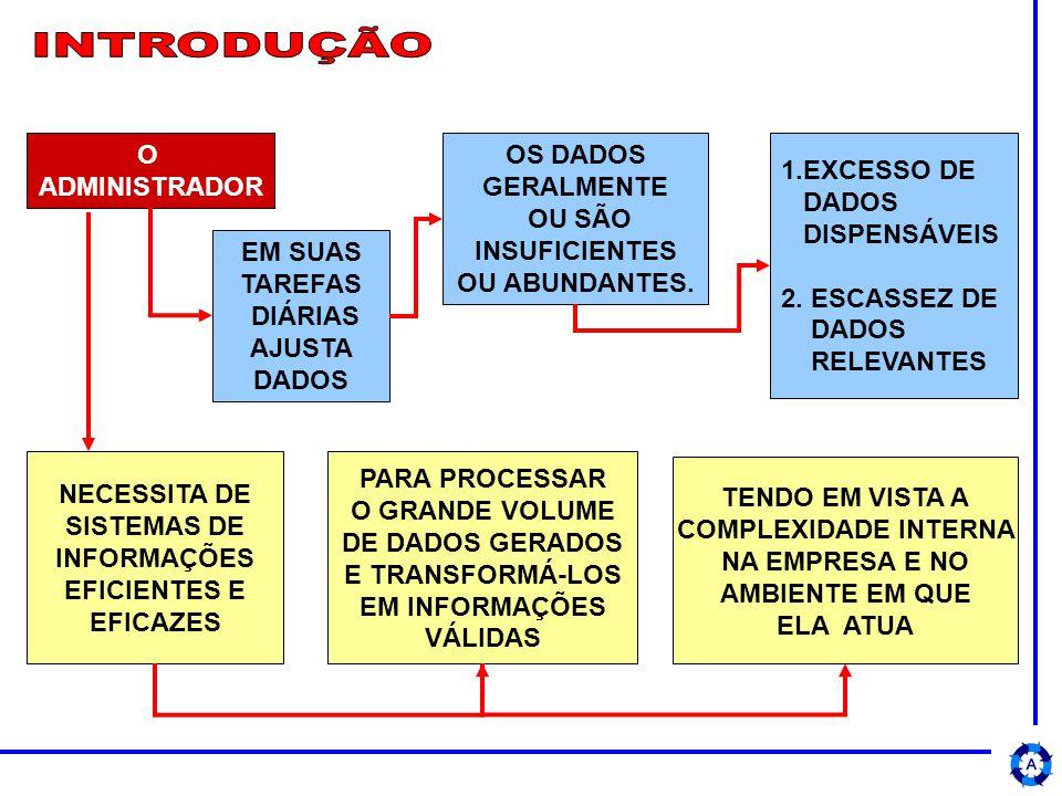 DADOS ELABORADOS E TRANSFORMADOS EM INFORMAÇÕES DEVEM PROPICIAR A IDENTIFICAÇÃO DE PROBLEMAS E NECESSIDADES ORGANIZACIONAIS DEVEM FORNECER SUBSÍDIOS PARA AVALIAR O IMPACTO DAS DECISÕES A SEREM TOMADAS PELO ADMINISTRADOR