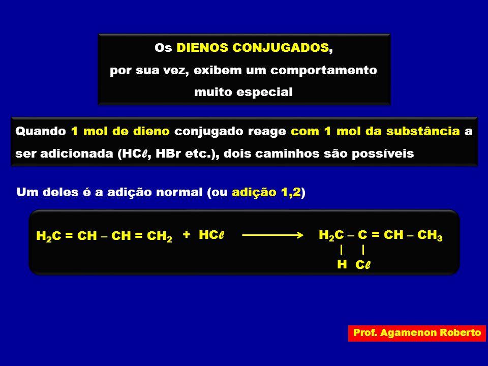 Prof. Agamenon Roberto Os DIENOS CONJUGADOS, por sua vez, exibem um comportamento muito especial Os DIENOS CONJUGADOS, por sua vez, exibem um comporta