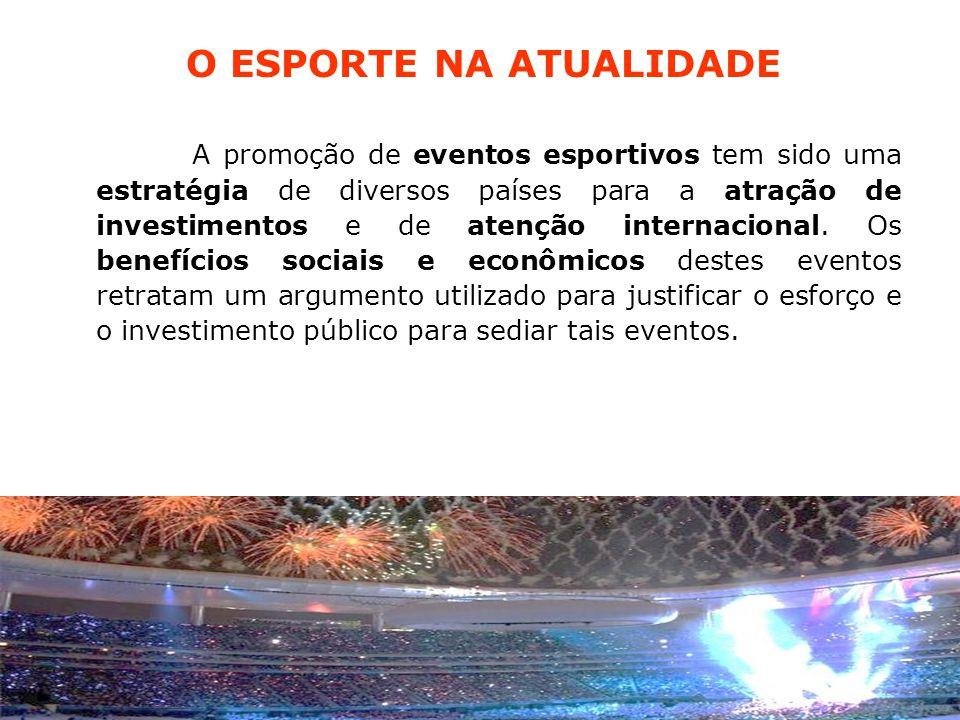 A promoção de eventos esportivos tem sido uma estratégia de diversos países para a atração de investimentos e de atenção internacional.
