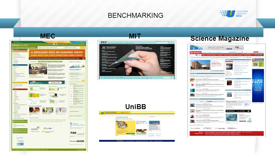BENCHMARKING MIT Science Magazine UniBB MEC