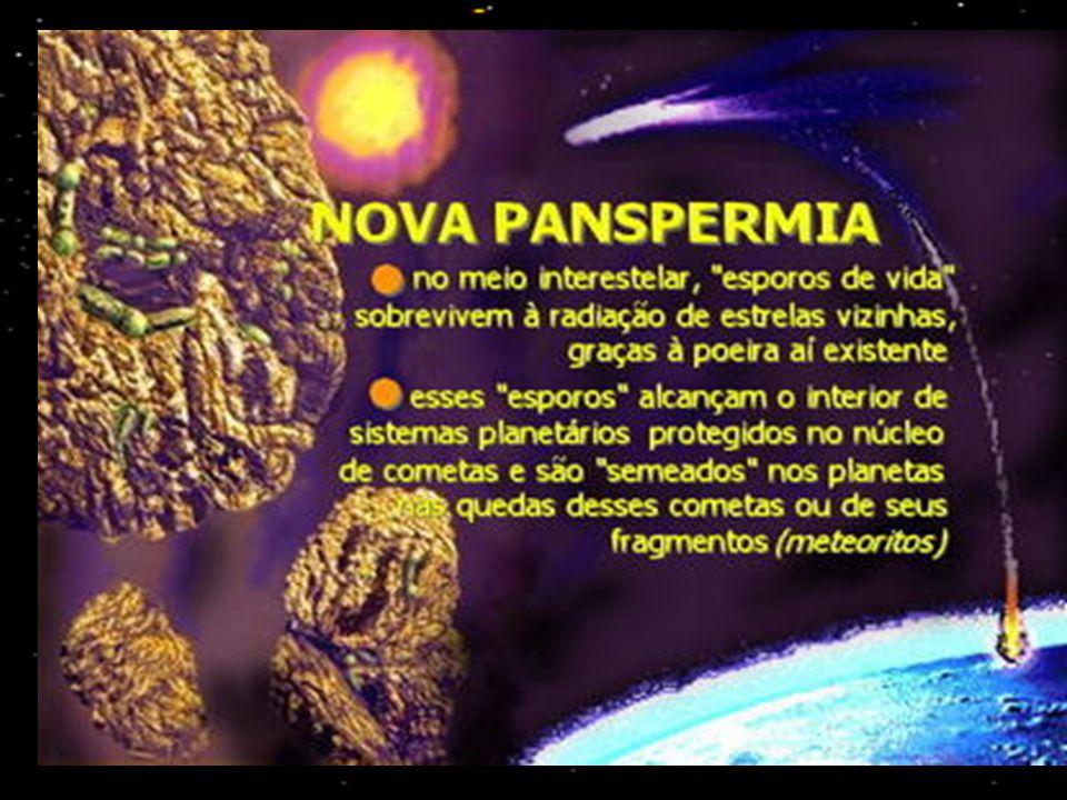 TEORIAS MODERNAS SURGIMENTO DOS SERES VIVOS NA TERRA PANSPERMIA CÓSMICA (COSMOZOÁRIOS)
