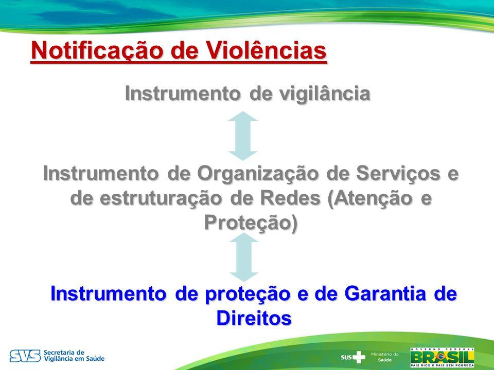 Instrumento de vigilância Instrumento de Organização de Serviços e de estruturação de Redes (Atenção e Proteção) Instrumento de proteção e de Garantia