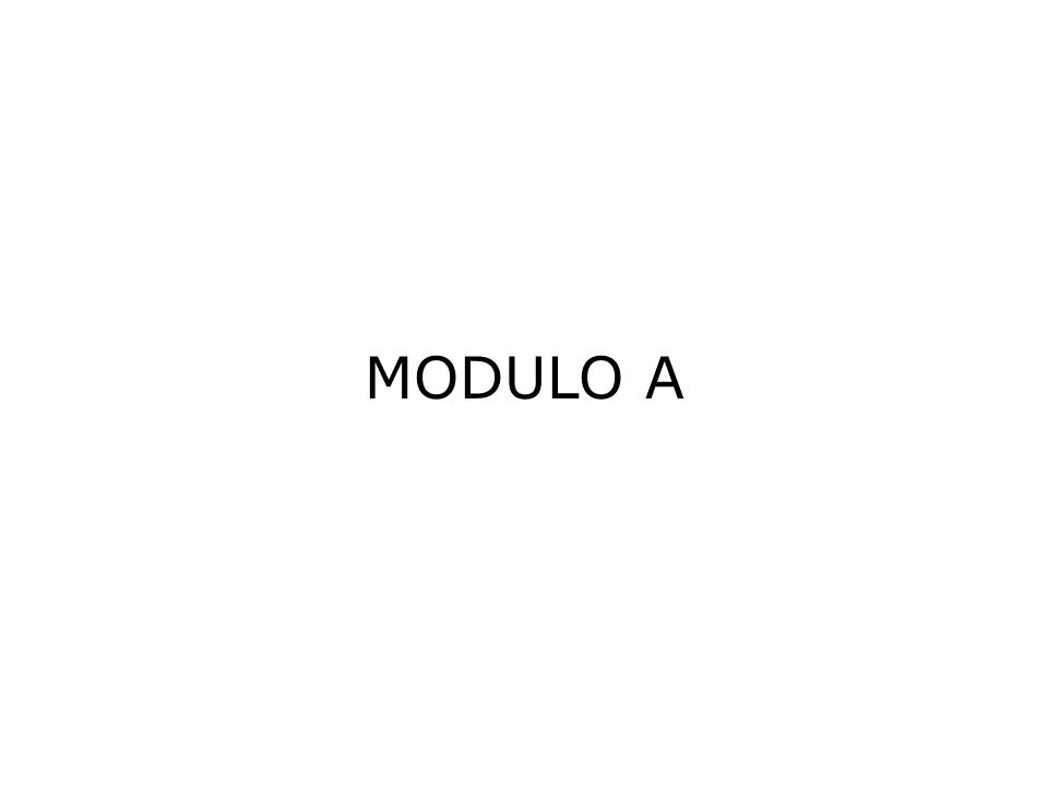 MODULO A