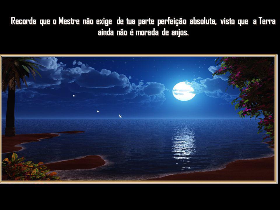 Recorda que o Mestre não exige de tua parte perfeição absoluta, visto que a Terra ainda não é morada de anjos.