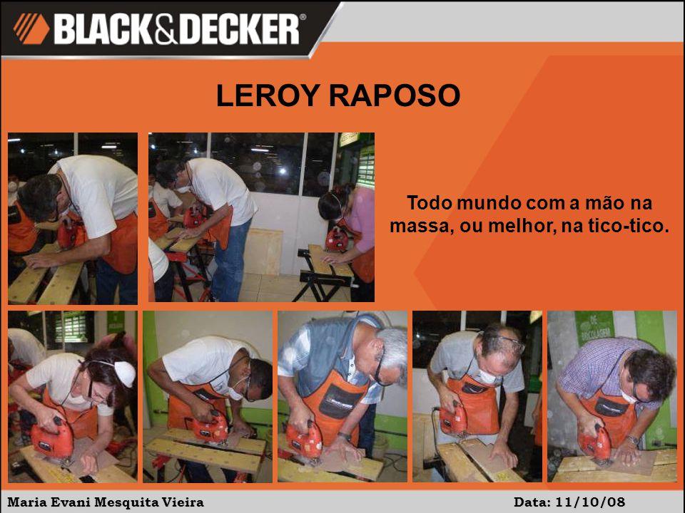 Maria Evani Mesquita Vieira Data:11/10/08 LEROY RAPOSO Agora, mãos na furadeira!!!