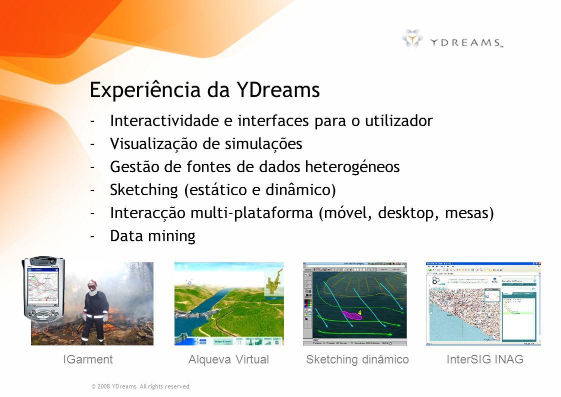 -Interactividade e interfaces para o utilizador -Visualização de simulações -Gestão de fontes de dados heterogéneos -Sketching (estático e dinâmico) -