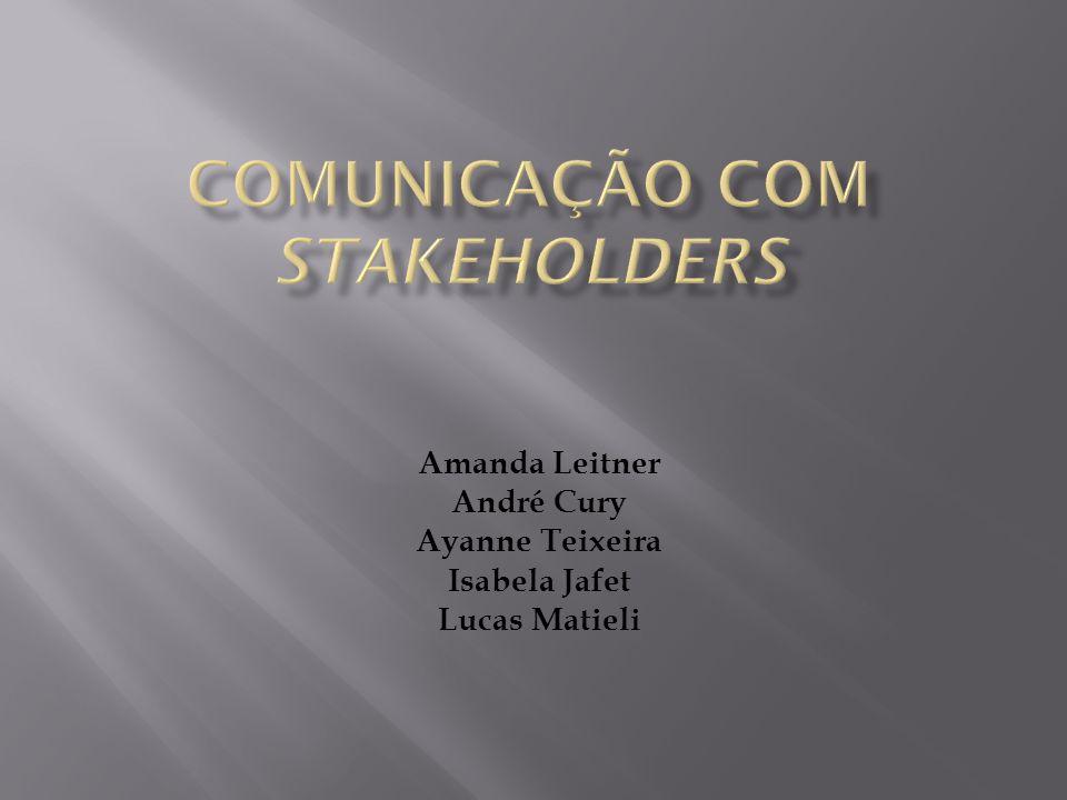  Explicação do conceito de stakeholders.