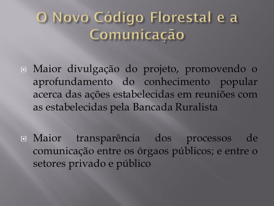  Maior divulgação do projeto, promovendo o aprofundamento do conhecimento popular acerca das ações estabelecidas em reuniões com as estabelecidas pel