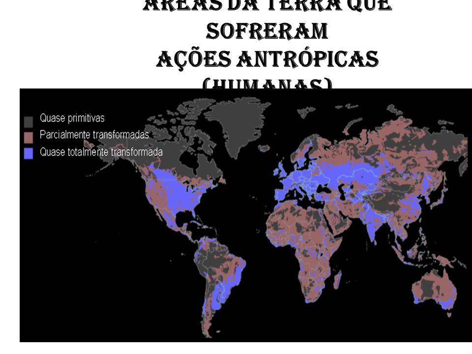 Áreas da Terra que sofreram ações antrópicas (humanas)
