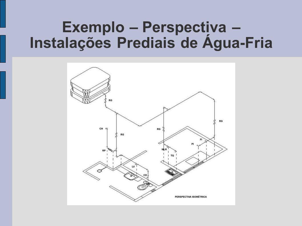 Exemplo – Perspectiva – Instalações Prediais de Água-Fria