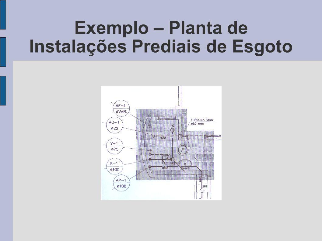 Exemplo – Planta de Instalações Prediais de Esgoto