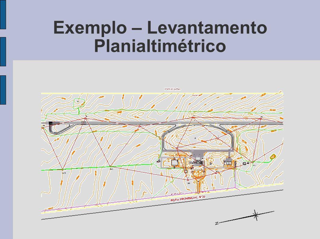 Exemplo – Levantamento Planialtimétrico