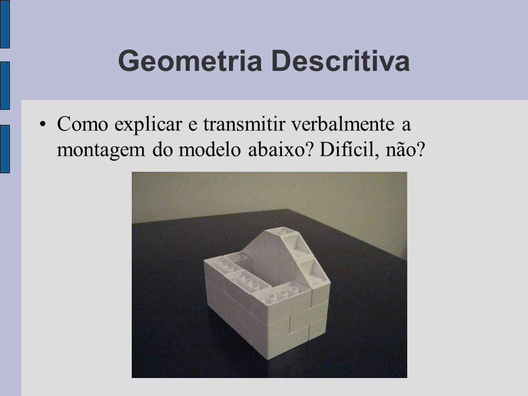 Geometria Descritiva Como explicar e transmitir verbalmente a montagem do modelo abaixo.