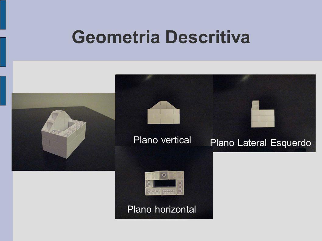 Geometria Descritiva Plano vertical Plano horizontal Plano Lateral Esquerdo
