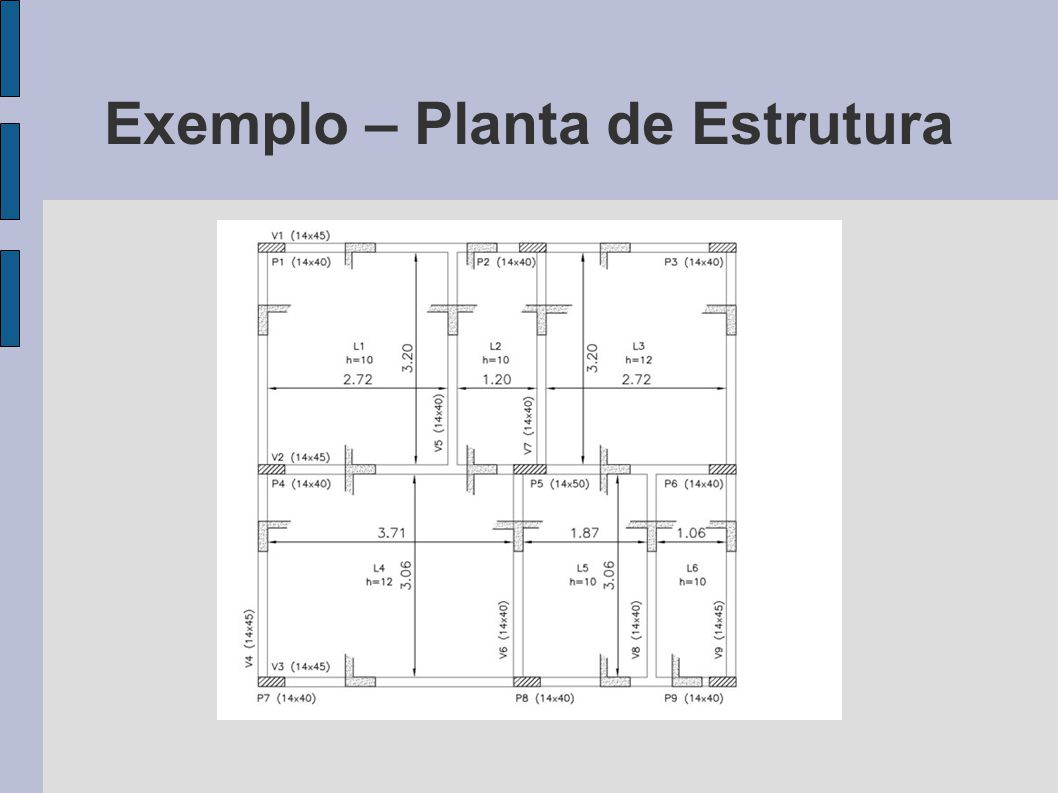 Exemplo – Planta de Estrutura