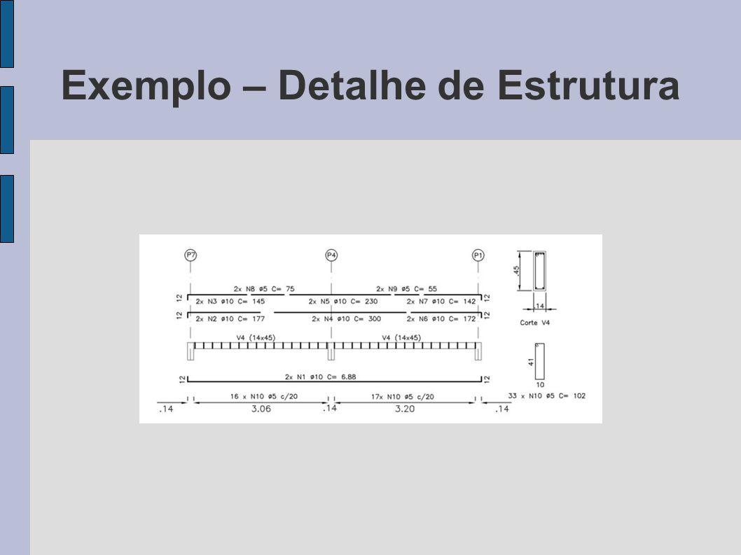 Exemplo – Detalhe de Estrutura