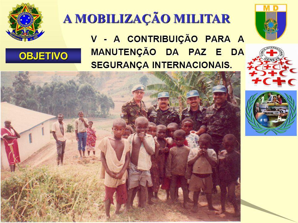 A MOBILIZAÇÃO MILITAR V - A CONTRIBUIÇÃO PARA A MANUTENÇÃO DA PAZ E DA SEGURANÇA INTERNACIONAIS.