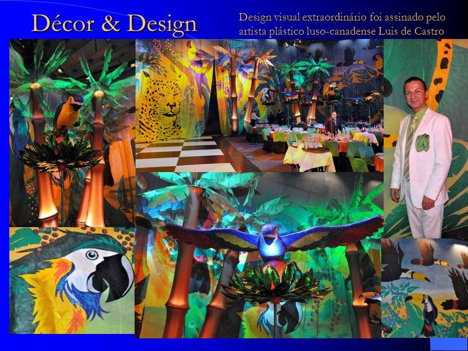 Décor & Design Design visual extraordinário foi assinado pelo artista plástico luso-canadense Luis de Castro