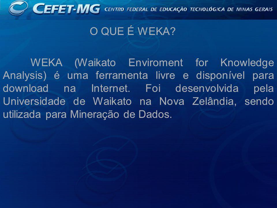 O QUE É WEKA.