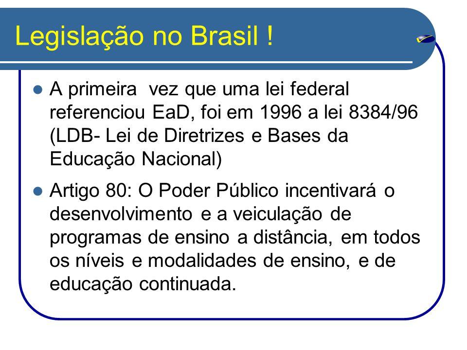 Legislação no Brasil .