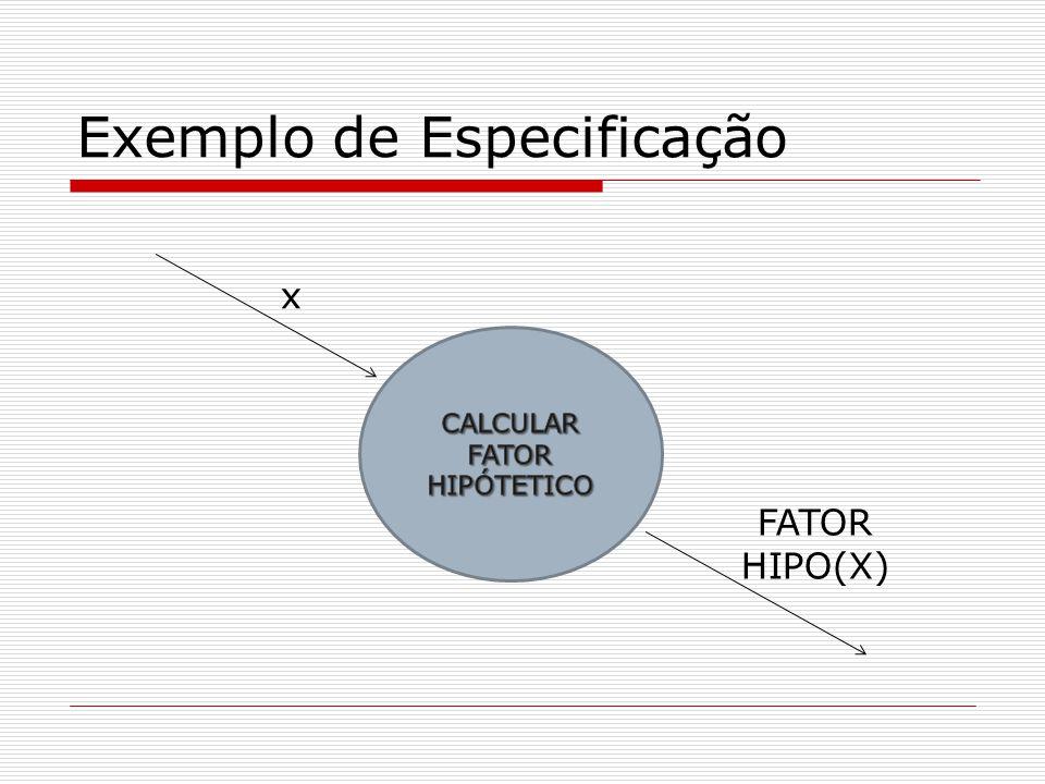 1.O fator hipotético não é produzido como resultado de um cálculo simples.