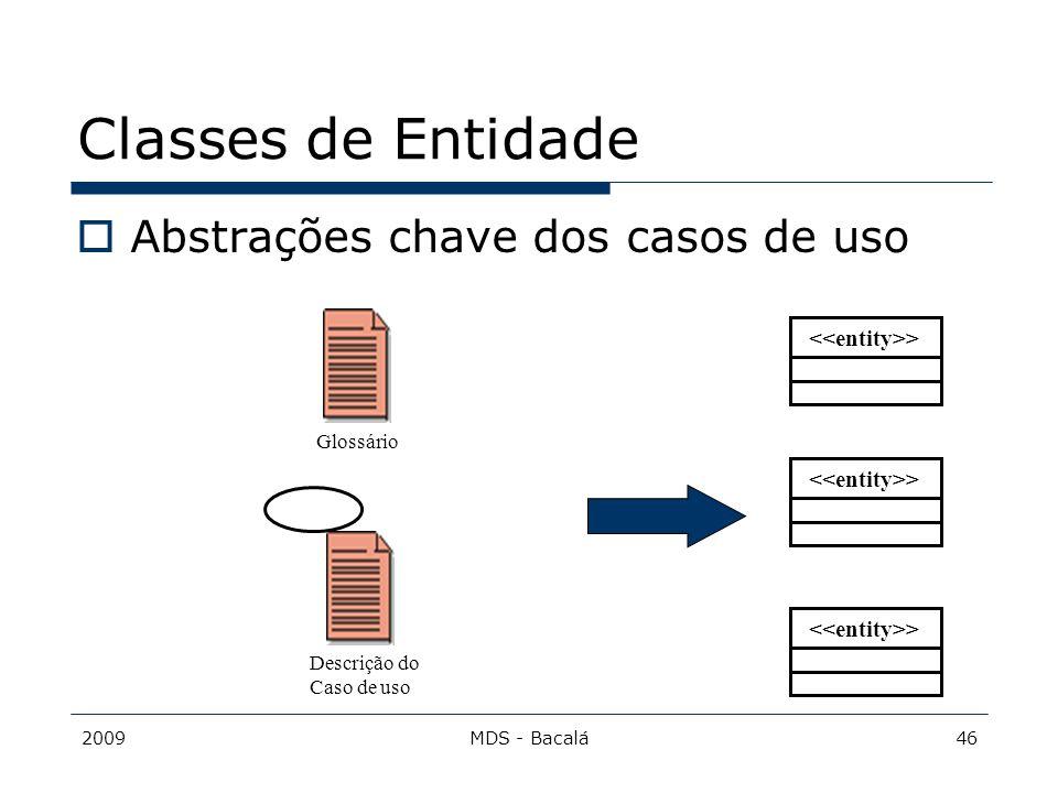 2009MDS - Bacalá46 Classes de Entidade  Abstrações chave dos casos de uso > Glossário Descrição do Caso de uso >
